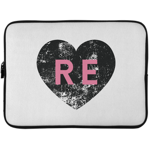 Heart R E (Pink) Laptop Sleeve - 15 Inch