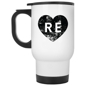 Heart R E XP8400W White Travel Mug