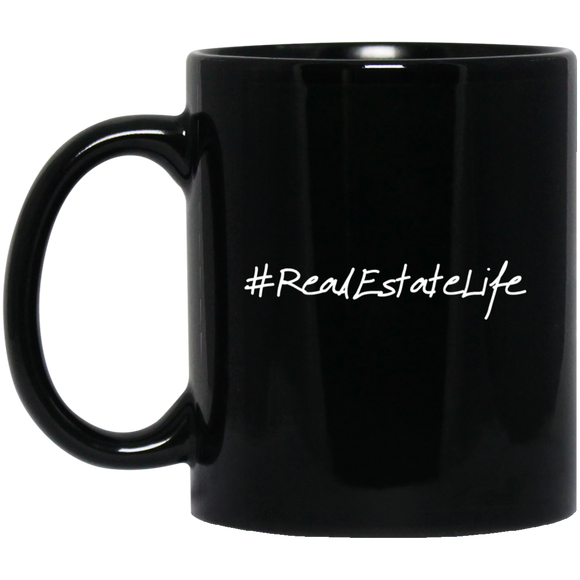 #RealEstateLife 11 oz. Black Mug