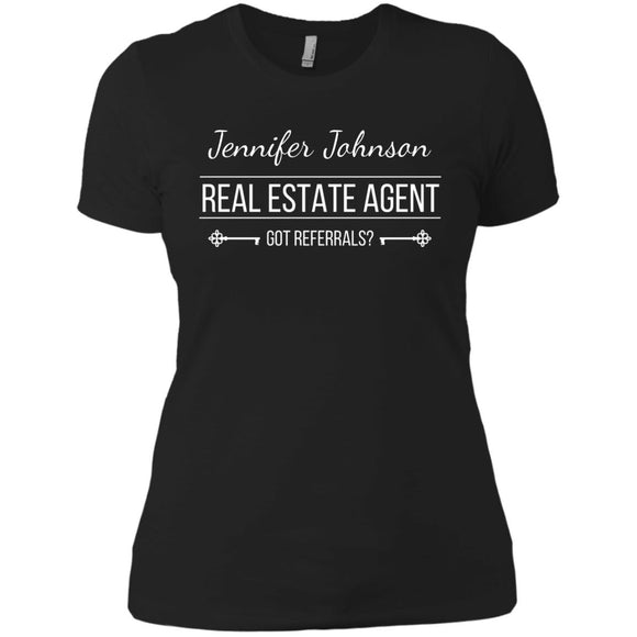 Customizable Real Estate Agent Shirt Ladies' Boyfriend T-Shirt