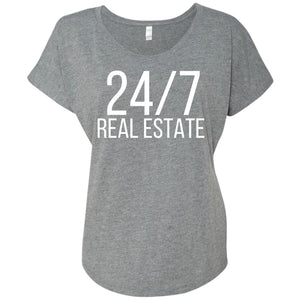 24 / 7 REAL ESTATE Ladies' Loose Fit Shirt