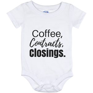 Coffee Contracts Closings Baby Onesie 12 Month