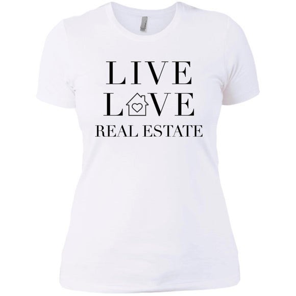 LIVE LOVE REAL ESTATE Ladies' Boyfriend T-Shirt