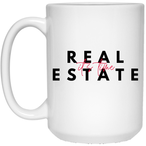 4 21504 15 oz. White Mug Real Estate