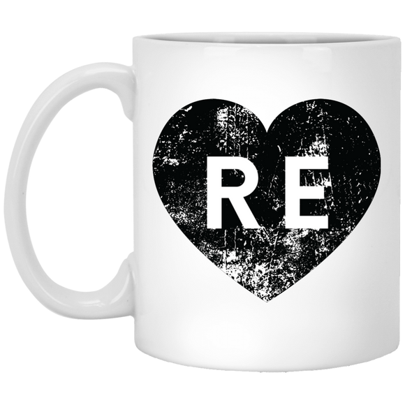 Heart R E XP8434 11 oz. White Mug