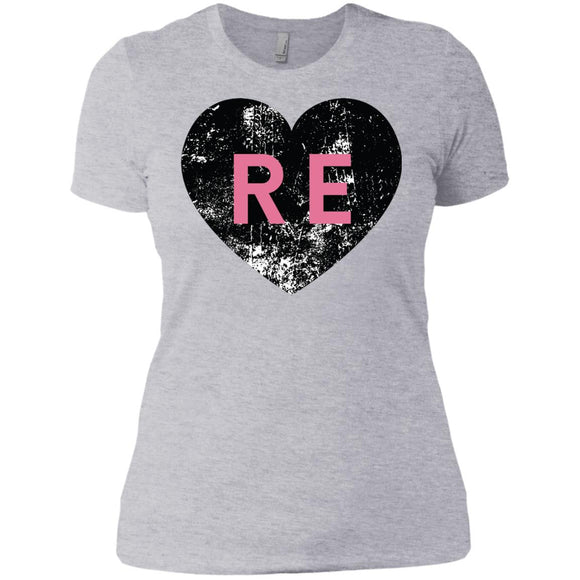 Heart R E Ladies' Boyfriend T-Shirt