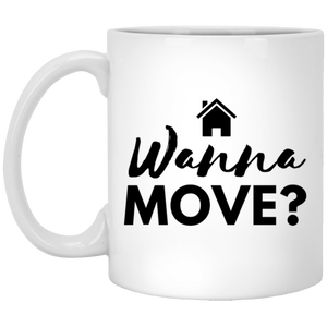 Wanna Move XP8434 11 oz. White Mug