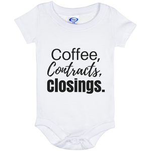 Coffee Contracts Closings Baby Onesie 6 Month