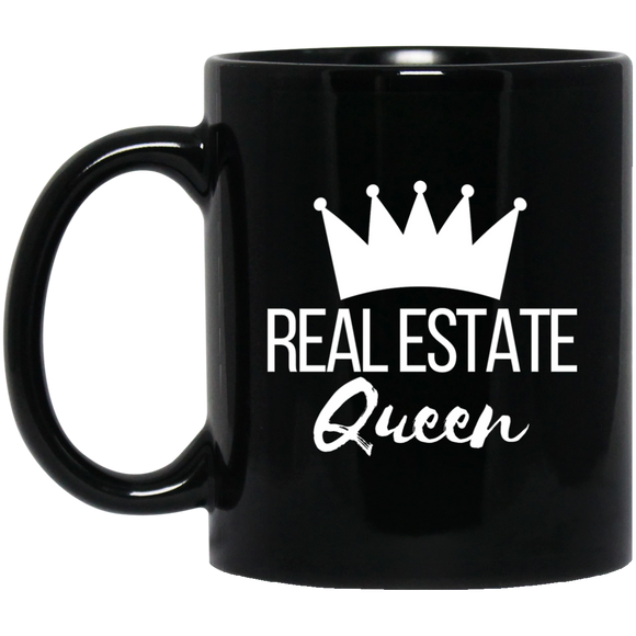 Real Estate Queen 11 oz. Black Mug