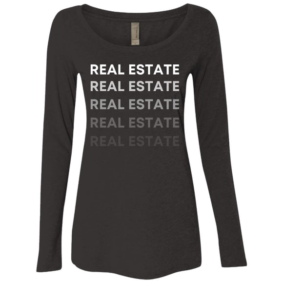 REAL ESTATE NL6731 Ladies' Triblend LS Scoop