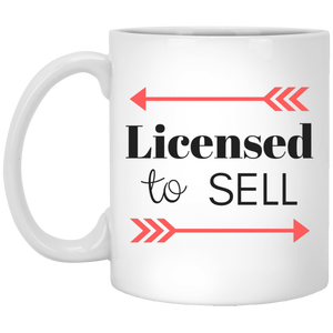 Licensed to Sell XP8434 11 oz. White Mug