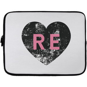 Heart R E (Pink) Laptop Sleeve - 13 inch