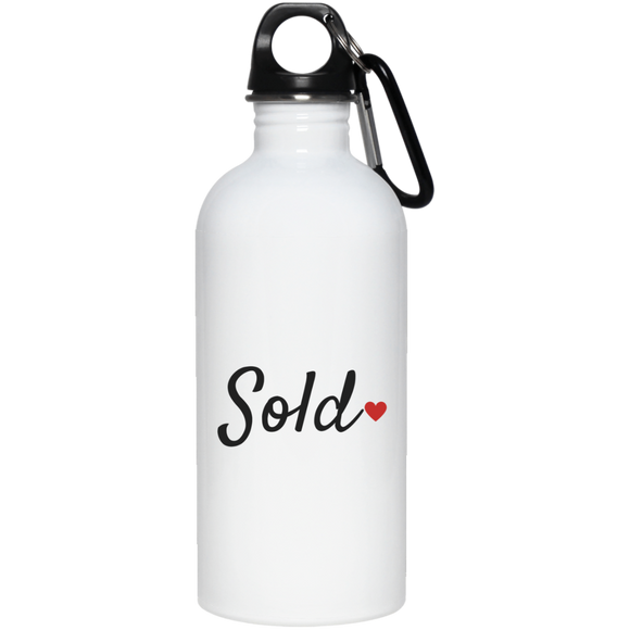 Sold 23663 20 oz. Stainless Steel Water Bottle