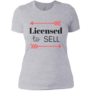 Licensed to Sell Ladies' Boyfriend T-Shirt
