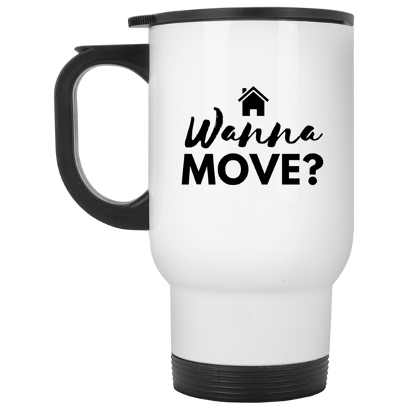Wanna Move XP8400W White Travel Mug