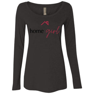 Home Girl NL6731 Ladies' Triblend LS Scoop