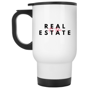 4 XP8400W White Travel Mug Real Estate