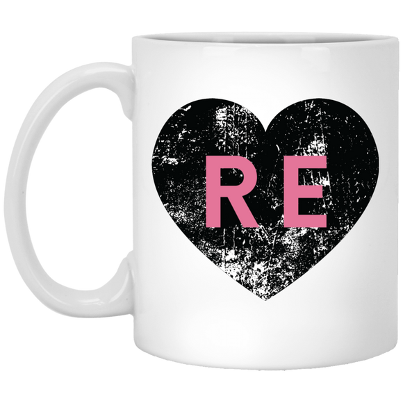 Heart R E (Pink) XP8434 11 oz. White Mug