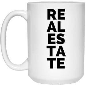 1 21504 15 oz. White Mug Real Estate