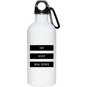 Eat Sleep Real Estate 23663 20 oz. Stainless Steel Water Bottle