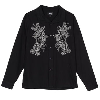 EMB. DRAGON LS SHIRT