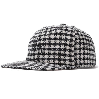 MIXED PATTERN STRAPBACK CAP