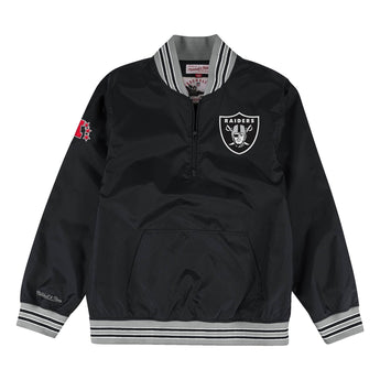 RAIDERS 1/4 ZIP NYLON JACKET