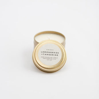 Travel Tin Candles - Lemongrass + Tangerine