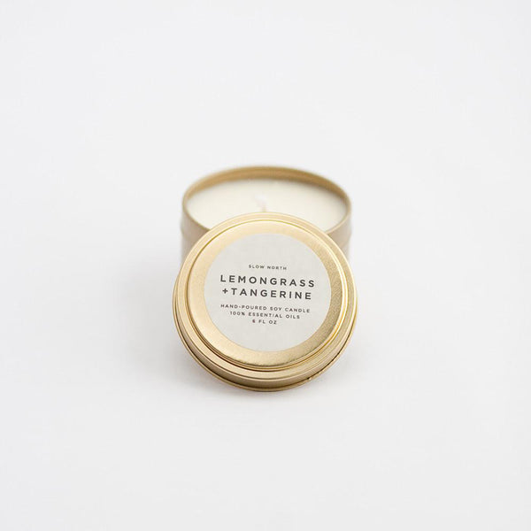 Travel Tin Candles | Lemongrass + Tangerine