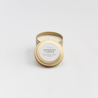 Travel Tin Candles - Rosemary + Lemon