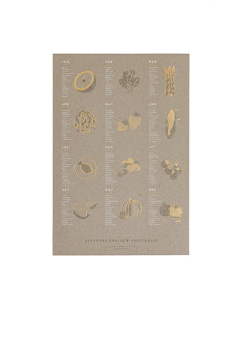 Fruit and Vegetable Poster (Chipboard)