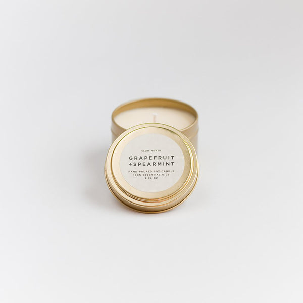 Travel Tin Candles Grapefruit + Spearmint