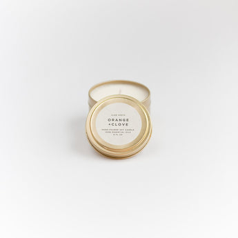 Travel Tin Candles - Orange + Clove