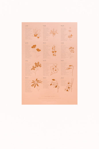 Native Wildflowers Poster (Blush)