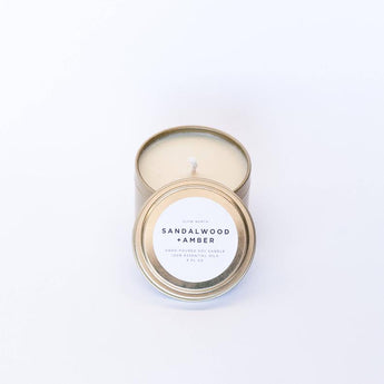 Travel Tin Candles - Sandalwood + Amber