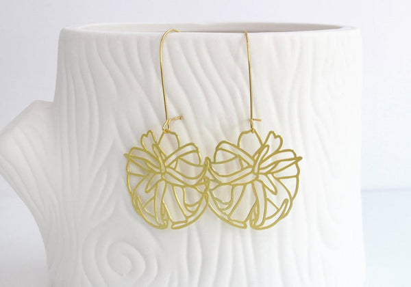 Air Plant Earrings | Style 2 Gold