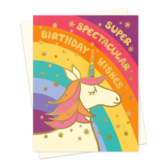 Spectacular Unicorn Foil Stamped Birthday Card