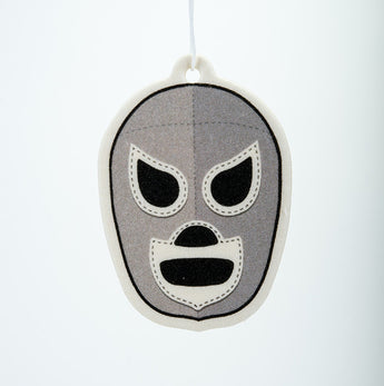 El Santo Mask Silver Black Ice Air Freshener