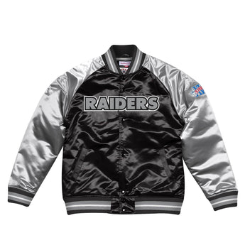 NFL TOUGH SEASON SATIN JACKET RAIDERS
