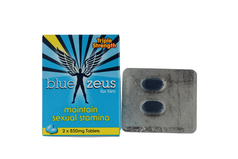 2 Blue Zeus Male Enhancement Pills