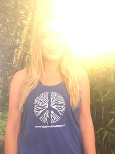 Yoga Tank Top (Rooted Peace Sign - Sky Blue)