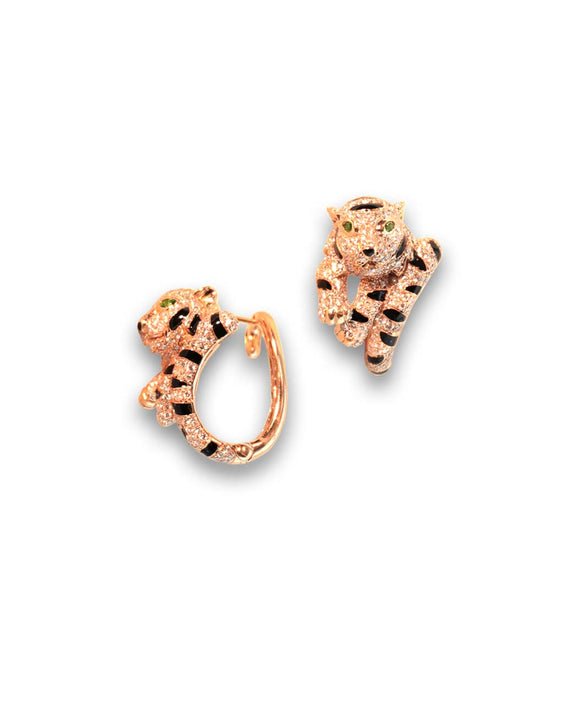 Santa Fe Jewelry Maverick's Rose Gold Tiger Earrings