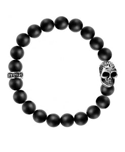 Santa Fe Beads King Baby Beaded Stretchy bracelet with skull.
