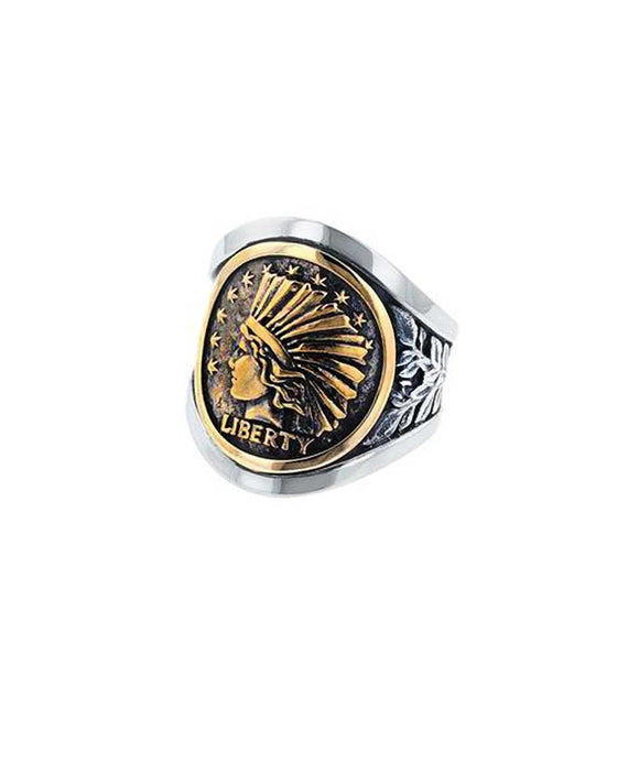 Santa Fe Jewelry King Baby Liberty Headdress Cigar Band.