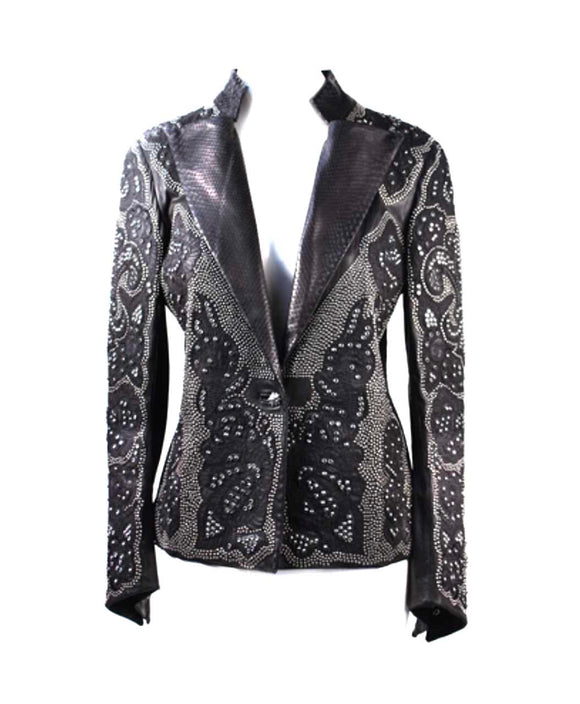 Santa Fe Western Clothes Kippys Glamvamp Studded leather blazer.