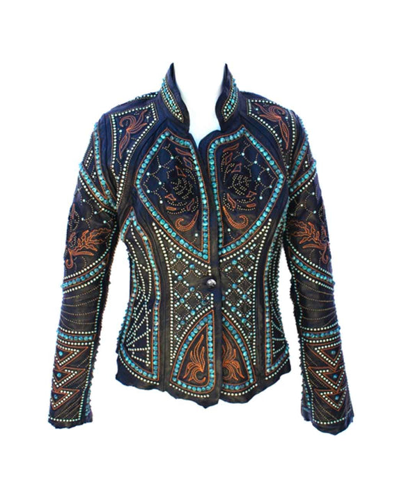 Santa Fe Leather Jackets Kippys Embellished Vembrement