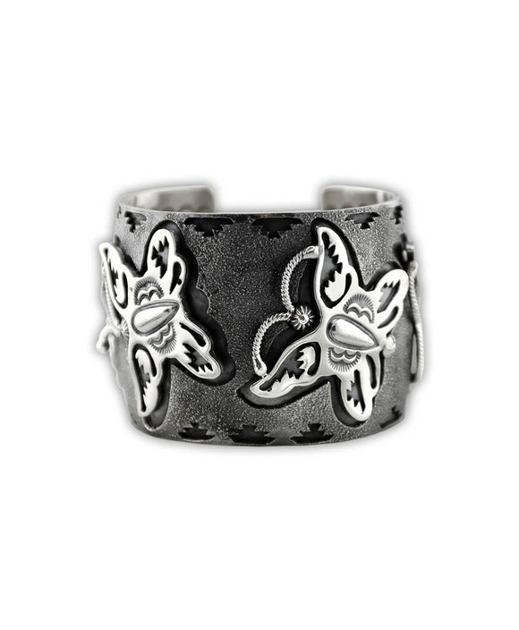 Larry Martinez Chavez Sterling Silver Oxidized Butterfly Cuff