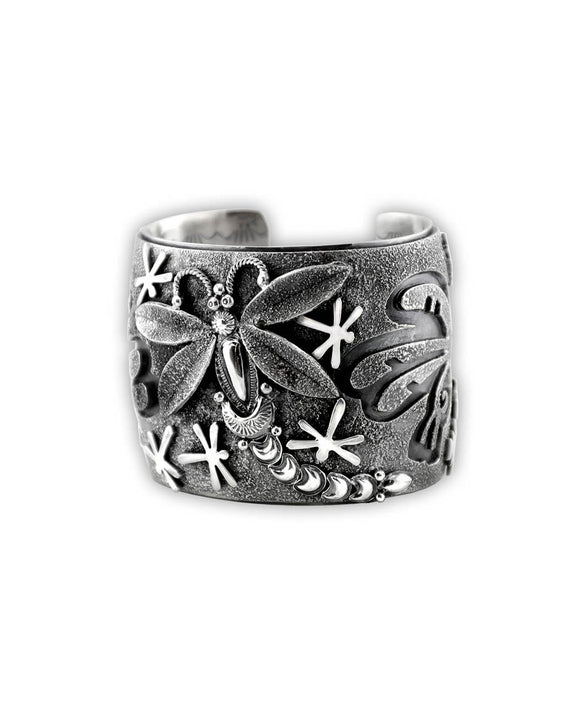 Larry Martinez Chavez Sterling Silver Dragonflies Cuff