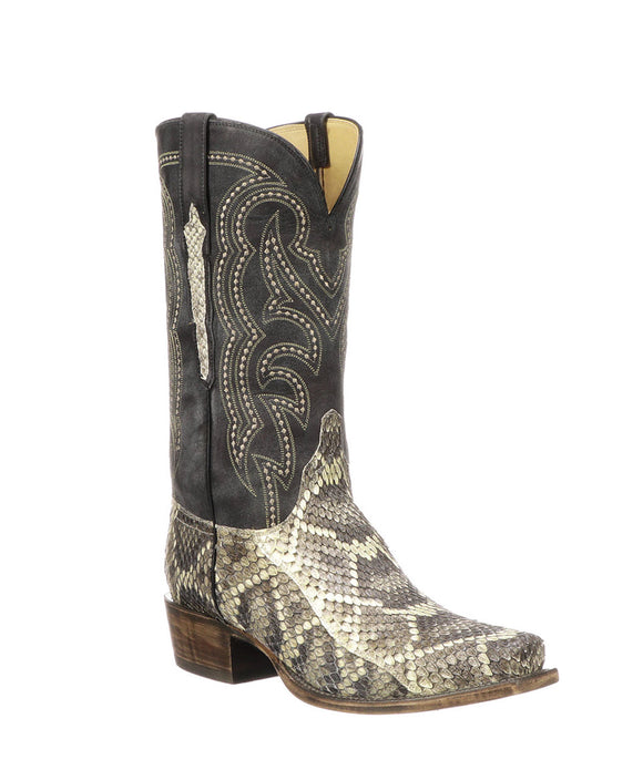 Santa Fe Cowboy Boots  Lucchese Men's Western Boot Harvey, Black Right view