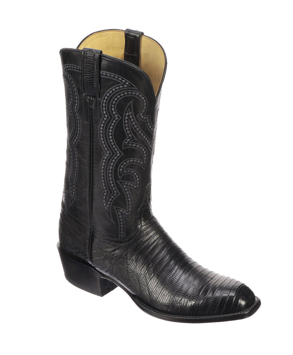 Santa Fe Cowboy Boots  Lucchese Men's Western Boot Kip, Black Right view
